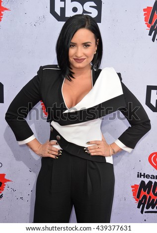 LOS ANGELES, CA. April 3, 2016. Singer Demi Lovato at the iHeartRadio Music Awards 2016 at The Forum.