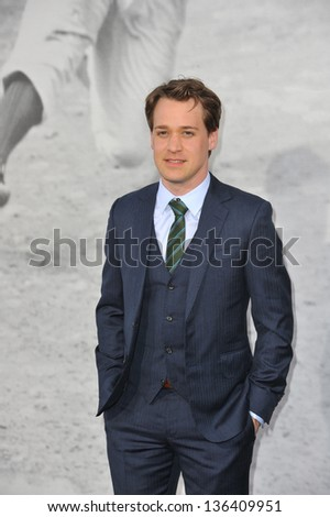 "LOS ANGELES, CA - APRIL 9, 2013: TR Knight at the Los Angeles premiere of ""42: The True Story of An American Legend"" at the Chinese Theatre, Hollywood. Picture: Jaguar"