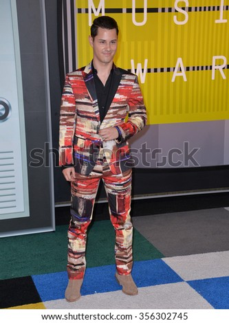 LOS ANGELES, CA - AUGUST 30, 2015: Actor Michael Willett at the 2015 MTV Video Music Awards at the Microsoft Theatre LA Live.