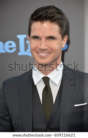"LOS ANGELES, CA. August 1, 2016: Actor Robbie Amell at the world premiere of ""Nine Lives"" at the TCL Chinese Theatre, Hollywood.
