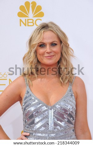 LOS ANGELES, CA - AUGUST 25, 2014: Amy Poehler at the 66th Primetime Emmy Awards at the Nokia Theatre L.A. Live downtown Los Angeles.