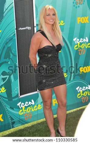 LOS ANGELES, CA - AUGUST 9, 2009: Britney Spears at the 2009 Teen Choice Awards at the Gibson Amphitheatre, Universal City.