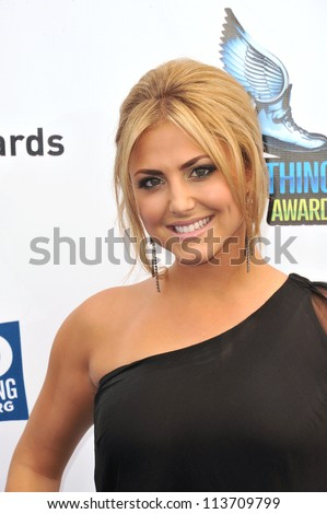 LOS ANGELES, CA - AUGUST 19, 2012: Cassie Scerbo at the 2012 Do Something Awards at Barker Hangar. Santa Monica Airport.