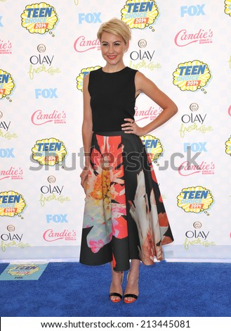 LOS ANGELES, CA - AUGUST 10, 2014: Chelsea Kane at the 2014 Teen Choice Awards at the Shrine Auditorium.