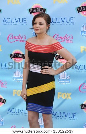 LOS ANGELES, CA - AUGUST 11, 2013: Chloe Grace Moretz at the 2013 Teen Choice Awards at the Gibson Amphitheatre, Universal City, Hollywood.