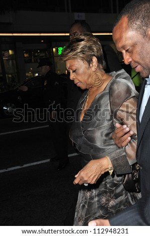"LOS ANGELES, CA - AUGUST 16, 2012: Cissy Houston (mother of the late Whitney Houston) at the premiere ""Sparkle"" at Grauman's Chinese Theatre, Hollywood. - stock photo"