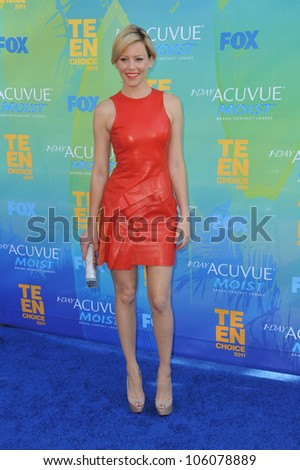 LOS ANGELES, CA - AUGUST 7, 2011: Elizabeth Banks arrives at the 2011 Teen Choice Awards at the Gibson Amphitheatre, Universal Studios, Hollywood. August 7, 2011  Los Angeles, CA