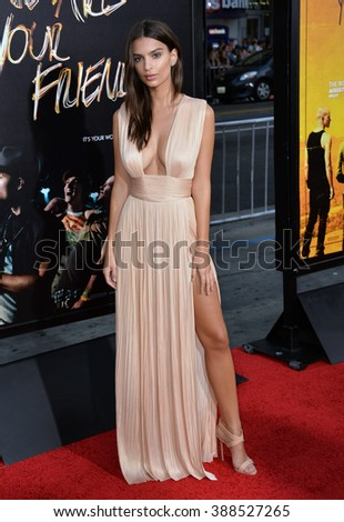 "LOS ANGELES, CA - AUGUST 20, 2015: Emily Ratajkowski at the Los Angeles premiere of her movie ""We Are Your Friends"" at the TCL Chinese Theatre, Hollywood. 