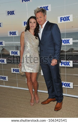 LOS ANGELES, CA - AUGUST 5, 2011: Gordon Ramsay & wife Tana at the Fox TV Summer 2011 All-Star Party at Gladstones Restaurant, Malibu. August 5, 2011  Malibu, CA - stock photo