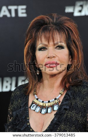 "LOS ANGELES, CA - AUGUST 11, 2014: Jackie Stallone (mother of Sylvester Stallone) at the Los Angeles premiere of ""The Expendables 3"" at the TCL Chinese Theatre, Hollywood."