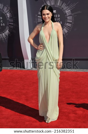LOS ANGELES, CA - AUGUST 24, 2014: Jessie J at the 2014 MTV Video Music Awards at the Forum, Los Angeles.