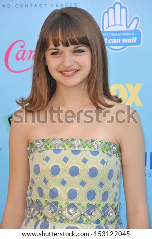 LOS ANGELES, CA - AUGUST 11, 2013: Joey King at the 2013 Teen Choice Awards at the Gibson Amphitheatre, Universal City, Hollywood.