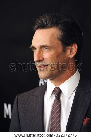 LOS ANGELES, CA - AUGUST 13, 2015: Jon Hamm at the Hollywood Foreign Press Association's Grants Banquet at the Beverly Wilshire Hotel.  - stock photo