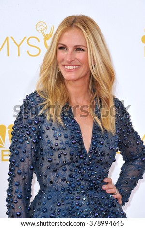 LOS ANGELES, CA - AUGUST 25, 2014: Julia Roberts at the 66th Primetime Emmy Awards at the Nokia Theatre L.A. Live downtown Los Angeles.