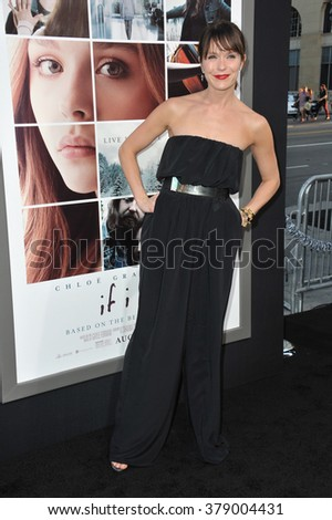 "LOS ANGELES, CA - AUGUST 20, 2014: Katie Aselton at the world premiere of ""If I Stay"" at the TCL Chinese Theatre, Hollywood."