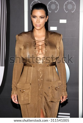 LOS ANGELES, CA - AUGUST 30, 2015: Kim Kardashian at the 2015 MTV Video Music Awards held at the Microsoft Theater in Los Angeles, USA on August 30, 2015. - stock photo
