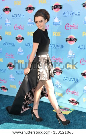 LOS ANGELES, CA - AUGUST 11, 2013: Lily Collins at the 2013 Teen Choice Awards at the Gibson Amphitheatre, Universal City, Hollywood.