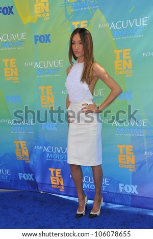 LOS ANGELES, CA - AUGUST 7, 2011: Maggie Q arrives at the 2011 Teen Choice Awards at the Gibson Amphitheatre, Universal Studios, Hollywood. August 7, 2011  Los Angeles, CA