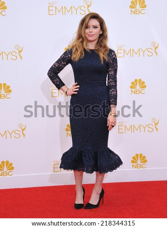 LOS ANGELES, CA - AUGUST 25, 2014: Natasha Lyonne at the 66th Primetime Emmy Awards at the Nokia Theatre L.A. Live downtown Los Angeles.