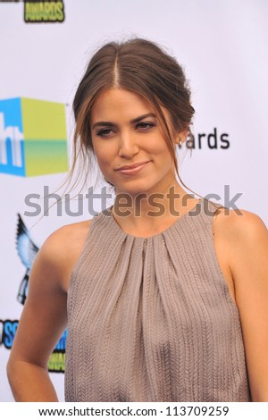LOS ANGELES, CA - AUGUST 19, 2012: Nikki Reed at the 2012 Do Something Awards at Barker Hangar. Santa Monica Airport.