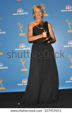 LOS ANGELES, CA - AUGUST 29, 2010: Nurse jackie star Edie Falco at the 2010 Primetime Emmy Awards at the Nokia Theatre L.A. Live in downtown Los Angeles.
