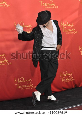 LOS ANGELES, CA - AUGUST 27, 2009: Performer Joby Rogers at the unveiling of Michael Jackson's new $300,000 wax figure at Madame Tussauds Hollywood. - stock photo