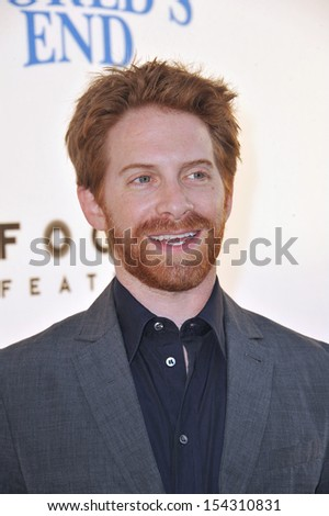 "LOS ANGELES, CA - AUGUST 21, 2013: Seth Green at the Los Angeles premiere of ""The World's End"" at the Cinerama Dome, Hollywood."