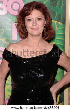LOS ANGELES, CA - AUGUST 29: Susan Sarandon arrives at HBO's Annual Post Emmy Awards Party at the Pacific Design Center on August 29, 2010 in West Hollywood, California. - stock photo
