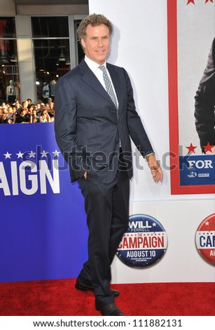 LOS ANGELES, CA - AUGUST 3, 2012: Will Ferrell at the Los Angeles premiere of his movie The Campaign at Grauman's Chinese Theatre, Hollywood. - stock photo