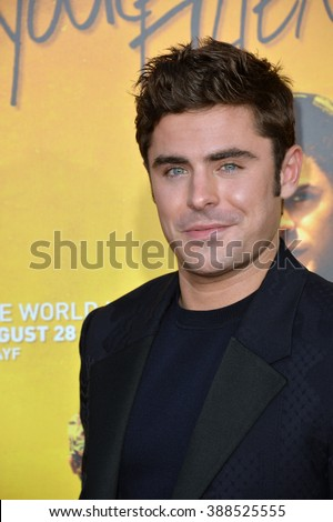 "LOS ANGELES, CA - AUGUST 20, 2015: Zac Efron at the Los Angeles premiere of his movie ""We Are Your Friends"" at the TCL Chinese Theatre, Hollywood. 