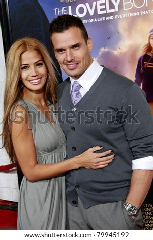 LOS ANGELES, CA - DEC 7: Antonio Sabato Jr. and Cheryl Moana Marie at the premiere of 'The Lovely Bones' held at the Mann's Grauman Chinese Theater in Los Angeles, California on December 07, 2009 - stock photo
