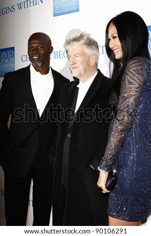 LOS ANGELES, CA - DEC 3: Djimon Hounsou, David Lynch, Kimora Lee at the 3rd Annual 'Change Begins Within' Benefit Celebration held at LACMA on December 3, 2011 in Los Angeles, California