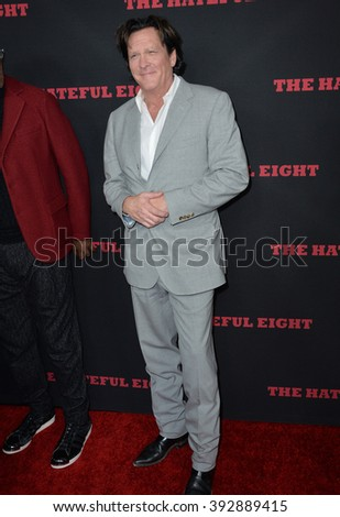 "LOS ANGELES, CA - DECEMBER 7, 2015: Actor Michael Madsen at the premiere ""The Hateful Eight"""
