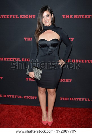 "LOS ANGELES, CA - DECEMBER 7, 2015: Actress Gina Field at the premiere ""The Hateful Eight"" - stock photo"