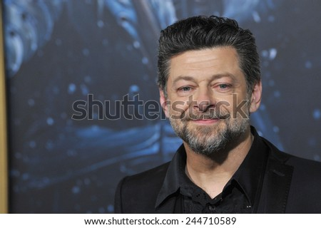 "LOS ANGELES, CA - DECEMBER 9, 2014: Andy Serkis at the Los Angeles premiere of his movie ""The Hobbit: The Battle of the Five Armies"" at the Dolby Theatre, Hollywood.  - stock photo"