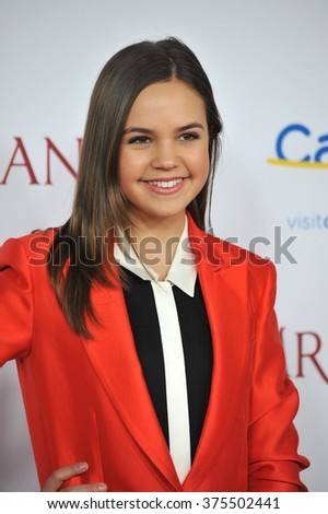 "LOS ANGELES, CA - DECEMBER 9, 2013: Bailee Madison at the US premiere of ""Saving Mr Banks"" at Walt Disney Studios, Burbank.  - stock photo"