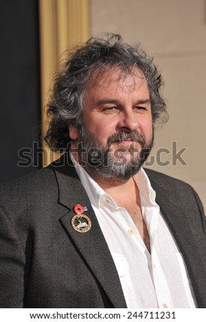 """LOS ANGELES, CA - DECEMBER 9, 2014: Director Peter Jackson at the Los Angeles premiere of his movie """"The Hobbit: The Battle of the Five Armies"""" at the Dolby Theatre, Hollywood.  - stock photo"""