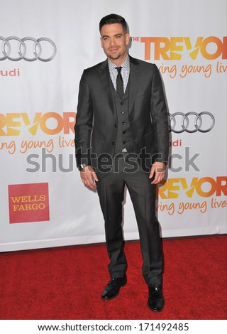 """LOS ANGELES, CA - DECEMBER 8, 2013: """"Glee"""" star Mark Salling at the 15th Anniversary TrevorLIVE gala to benefit the Trevor Project at the Hollywood Palladium.  - stock photo"""