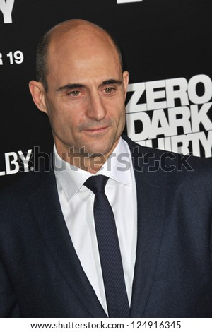 """LOS ANGELES, CA - DECEMBER 10, 2012: Mark Strong at the premiere of his movie """"Zero Dark Thirty"""" at the Dolby Theatre, Hollywood. - stock photo"""
