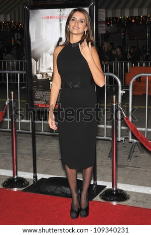 """LOS ANGELES, CA - DECEMBER 9, 2009: Penelope Cruz at the Los Angeles premiere of her new movie """"Nine"""" at the Mann Village Theatre, Westwood. - stock photo"""