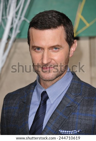 "LOS ANGELES, CA - DECEMBER 9, 2014: Richard Armitage at the Los Angeles premiere of his movie ""The Hobbit: The Battle of the Five Armies"" at the Dolby Theatre, Hollywood.  - stock photo"