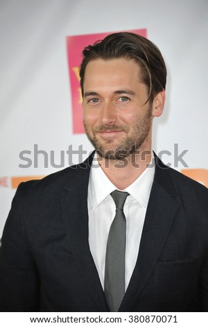 LOS ANGELES, CA - DECEMBER 7, 2014: Ryan Eggold at the 2014 TrevorLIVE Los Angeles Gala at the Hollywood Palladium.