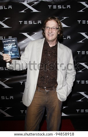 LOS ANGELES, CA - FEB 9: Chris Paine at the Tesla Worldwide Debut of Model X on February 9, 2012 in Hawthorne, Los Angeles, California - stock photo