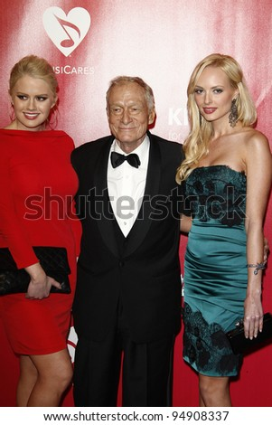 LOS ANGELES, CA - FEB 10: Hugh Hefner at the 2012 MusiCares Person of the Year Tribute To Paul McCartney at the LA Convention Center on February 10, 2012 in Los Angeles, California