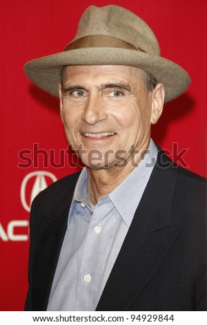 LOS ANGELES, CA - FEB 10: James Taylor at the 2012 MusiCares Person of the Year Tribute To Paul McCartney at the LA Convention Center on February 10, 2012 in Los Angeles, California