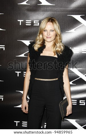 LOS ANGELES, CA - FEB 9: Malin Akerman at the Tesla Worldwide Debut of Model X on February 9, 2012 in Hawthorne, Los Angeles, California - stock photo