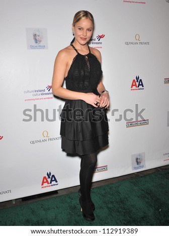 LOS ANGELES, CA - FEBRUARY 19, 2009: Abbie Cornish at the US-Ireland Alliance Oscar Wilde Gala at the Ebell Club, Los Angeles. - stock photo