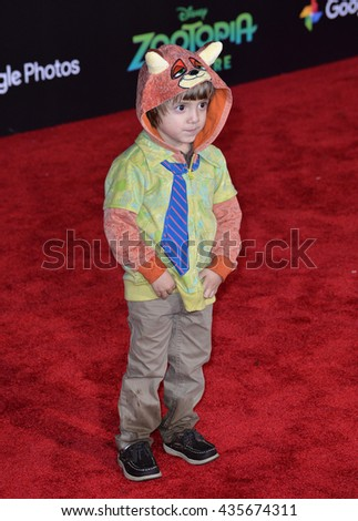 "LOS ANGELES, CA - FEBRUARY 17, 2016: Actor Jeremy Maguire at the premiere of Disney's ""Zootopia"" at the El Capitan Theatre, Hollywood.