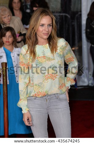 "LOS ANGELES, CA - FEBRUARY 17, 2016: Actress Jessalyn Gilsig at the premiere of Disney's ""Zootopia"" at the El Capitan Theatre, Hollywood.