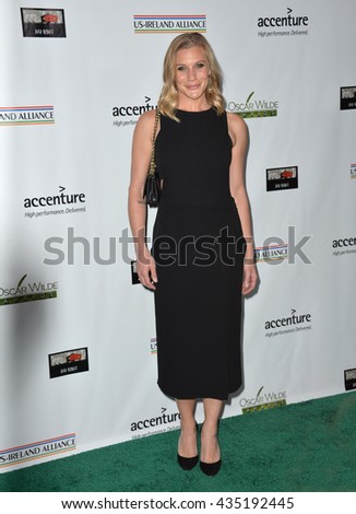LOS ANGELES, CA - FEBRUARY 25, 2016: Actress Katee Sackhoff at the US-Ireland Alliance's 11th Annual Oscar Wilde pre-Academy Awards event honoring the Irish in Film.